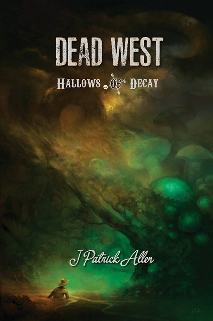 Dead West: Hallows of Decay   - Now available for the first time on Kindle Unlimited!A traveling alchemist, a ruined town, and below it all a dreaming godEveryone brought something from the old country. Grandfather's watch, and grandmother's china' great-grandfather's folklore, and great-great-grandmother's fairy tales. What is never discussed, however, are the undying characters of folklore: nix and fairy, goblin and vampire, dragon and eldritch things who all came to America's shores in time with the rhyme of their tales.The Knights of Charlotte hunt those things, ensuring what came from the dark stays in the dark.Two of their knights, Samuel and Charlie, approach the tiny town of Silverton. It's in a precarious position. A cult worships out in the dead mine, approaching town only to proselytize the town, by force if necessary. Its inhuman aid, the Seraphs, prove nearly impossible to kill. Even for Knights of Charlotte.As the siege of Silverton devolves into chaos, Charlie is cast into a phantom world where everything he's learned so far seems useless. Unable to navigate, eat, or communicate with another living being, he's still the best hope for survival.Elsewhere, something ancient slumbers.Dead West: Hallows of Decay picks up where Bond of Blood and the rest of J Patrick Allen's award-winning Dead West series left off.