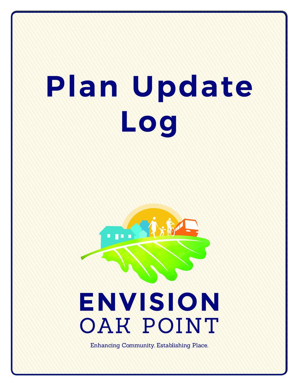 Envision Oak Point Plan Update Log