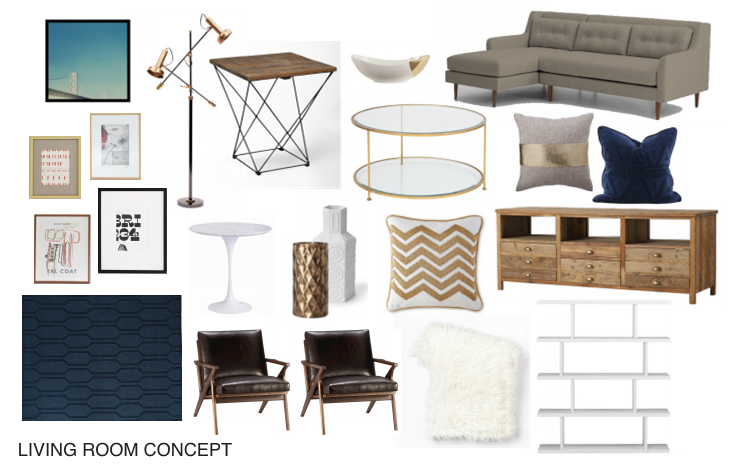DESIGN CONCEPTS:  We work with the furniture, art and other objects that our clients already own and would like to keep. By adding pieces that compliment and contrast these items, we can create a space that is both functional and beautiful.