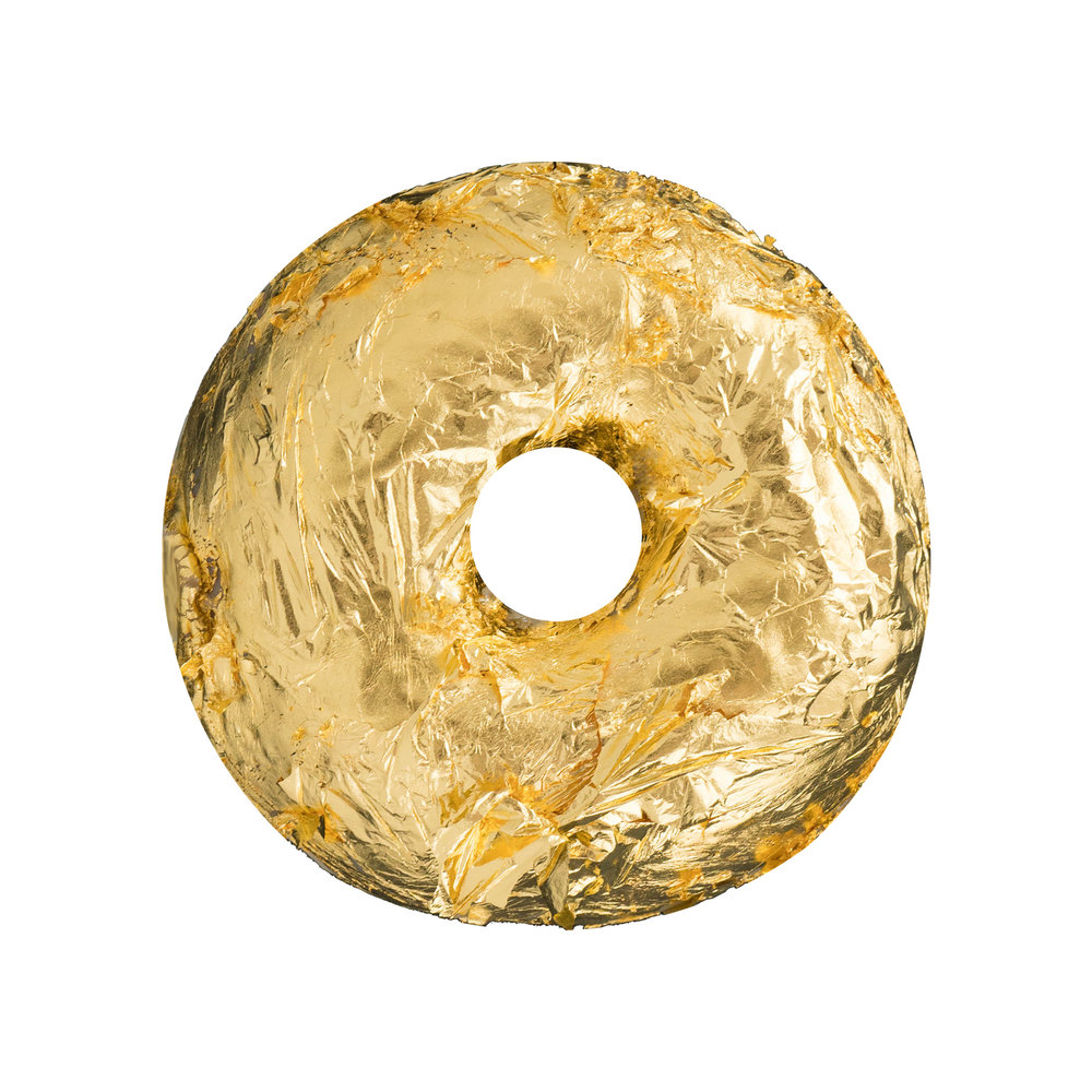 24K GOLD  - $35.00WHITE CHOCOLATE GLAZE+ REAL EDIBLE 24K GOLD*PRE-ORDER ONLY*
