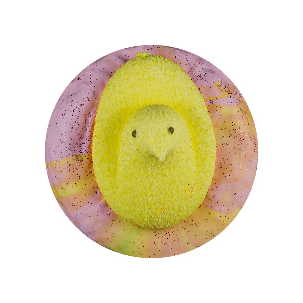 YELLOW CHICK PEEP - VANILLA GALAXY GLAZE+ GLITTER+ MARSHMALLOW CHICK