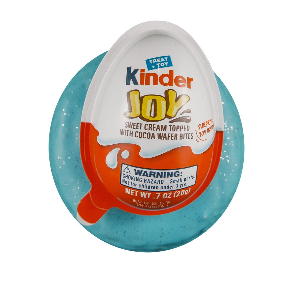 KINDER JOY EGG - VANILLA GLAZE+ SPRINKLES+ KINDER JOY EGG