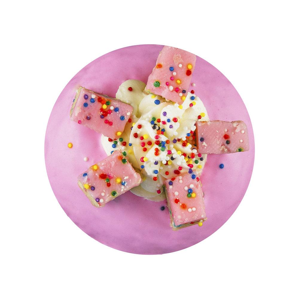 BIRTHDAY CAKE COOKIE DOUGH - VANILLA GLAZE+ BIRTHDAY CAKE COOKIE DOUGH+ BUTTERCREAM SWIRL+ SPRINKLES