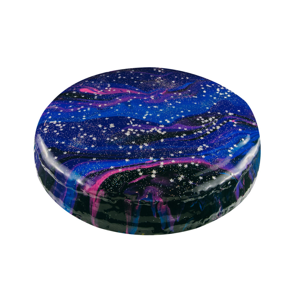 DARK GALAXY CHEESECAKE - BLACK, PINK, BLUE, PURPLE INTERIORNY CHEESECAKE FLAVOR