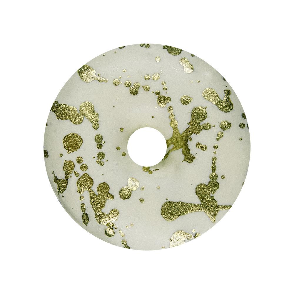 WHITE CHOCOLATE GOLD SPLATTER - WHITE CHOCOLATE GLAZE+ GOLD SPLATTER
