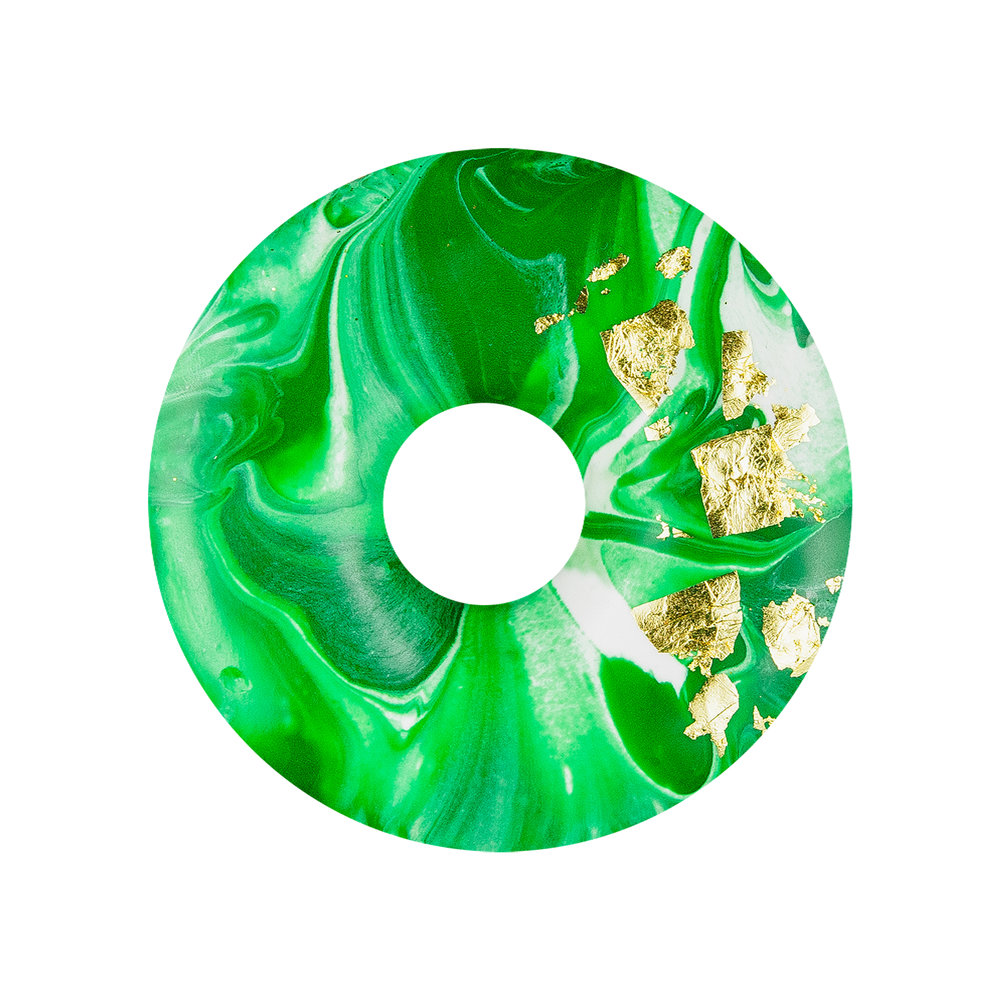 24K GREEN MARBLE - VANILLA MARBLE GLAZE+ REAL EDIBLE 24K GOLD