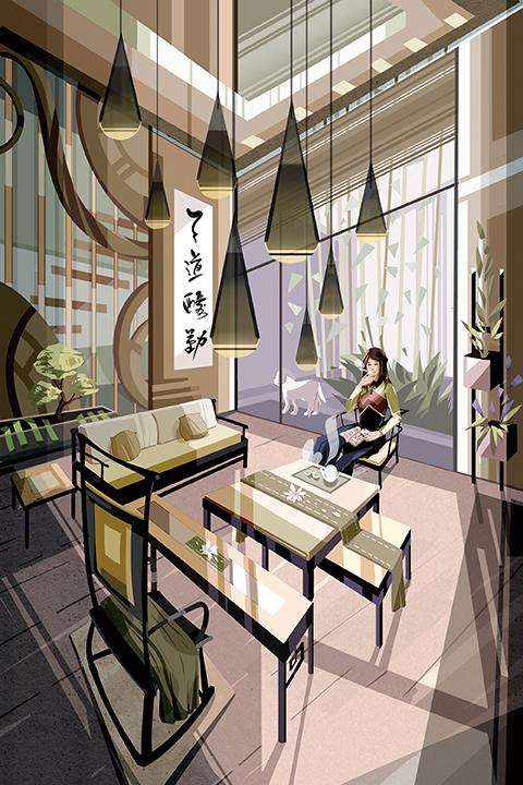 Asian Living Room — Chang Lillian Li