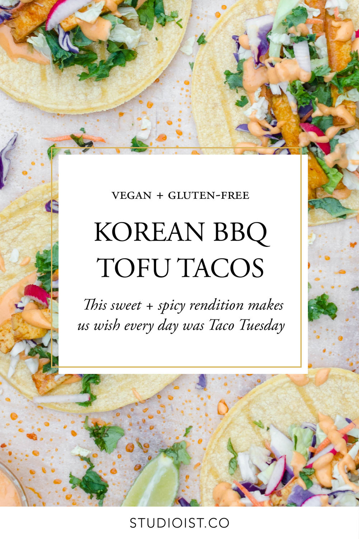 Vegan Gluten-Free Korean BBQ Tofu Tacos