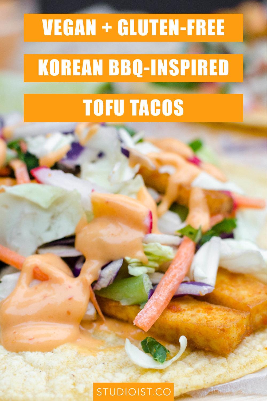 Vegan Gluten-Free Korean BBQ Tofu Tacos 1