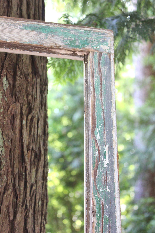 Vintage Chippy Wood Frame