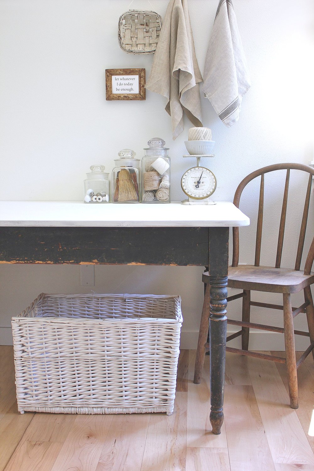 farm table with original old paint & chalk paint