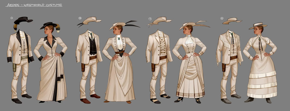 second round of costume design for Imogen & Aeden