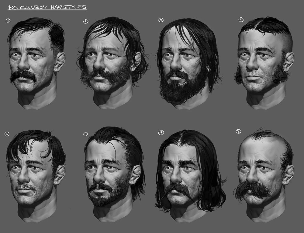 hair/facial hair designs for NPC's