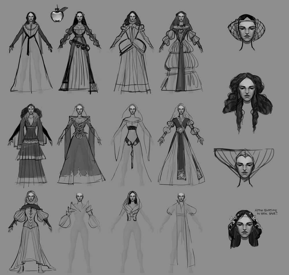 early costume thumbnails