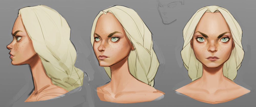 Evienne's final face design