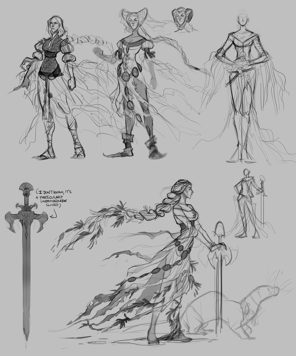 first round of rough concepts for Evienne