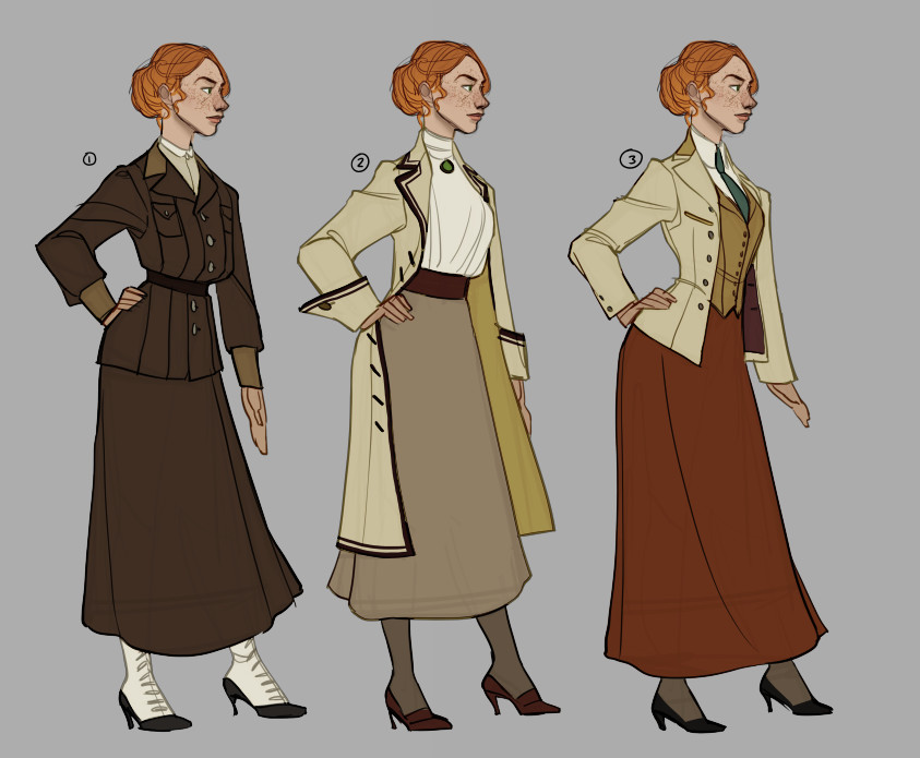 costume designs for Rosalind