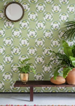 Cole And Son Using The Latest Colour Palette Of Natures Greensnbsp Ardmore Collection Wallpaper