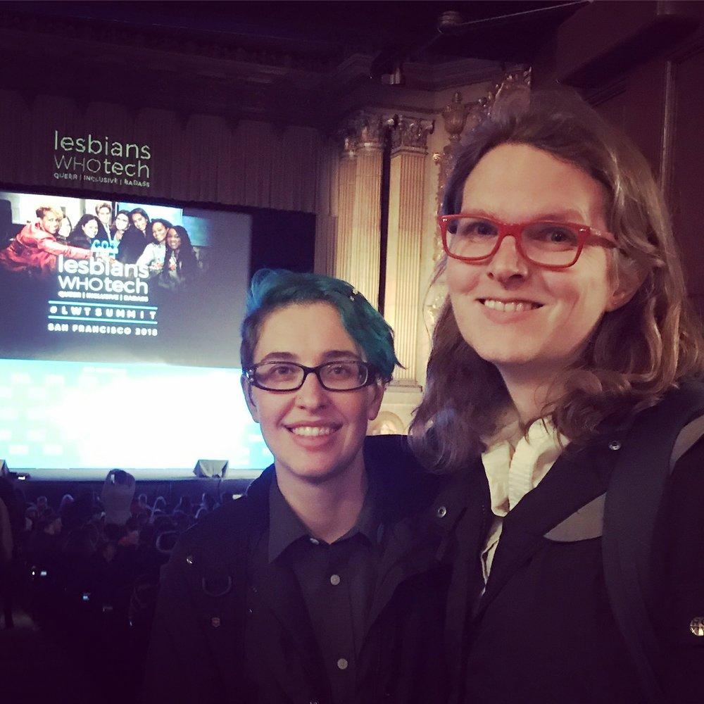Ashley & Miranda at Lesbians Who Tech Summit SF18