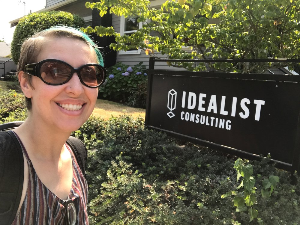 Ash Visits Idealist Consulting!