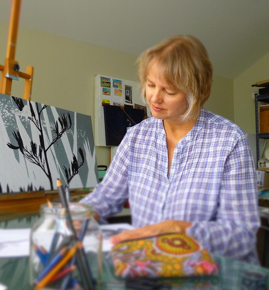 At work in my Raglan studio.