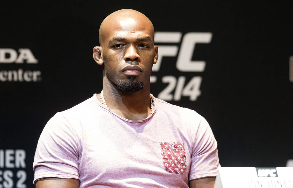 Jones at a UFC 214 press conference / IMG Source:http://bit.ly/2wFvrr3