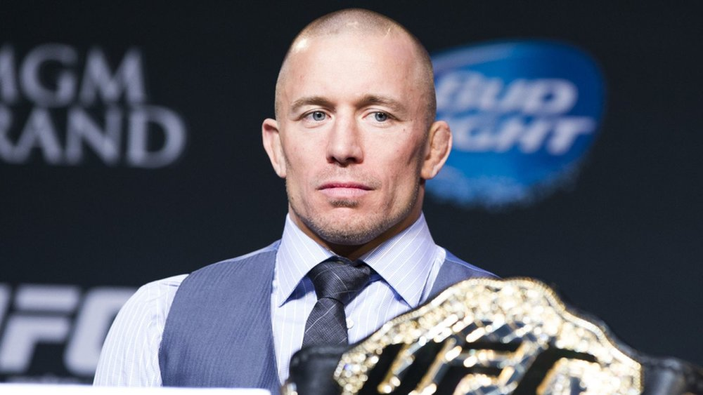 St-Pierre at a UFC press conference / IMG Source:http://bit.ly/2wczh7B