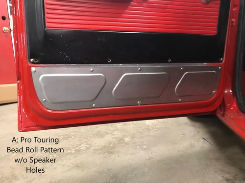 67 72 Bottom Door Panel With Or Without Speakers Vannatta Fabrication