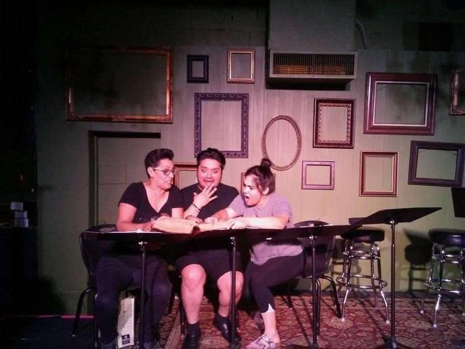 Teatro Audaz staged reading of Aye, No! - featuring from left; Gloria Sanchez, Jaime Gonzalez, and Suzi Lopez - at The Bang Bang Bar last year. The full production at The Playhouse coming in Aug 2018.