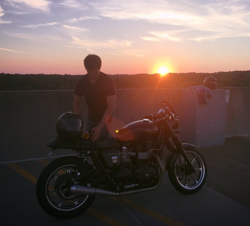 Urbann Arbor_Parking Lot Sunset motorcycle.jpg