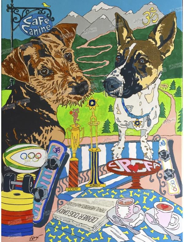 "2017 ""Cody & Abby""Denver, Colorado 18X24 Acrylic on Canvas"