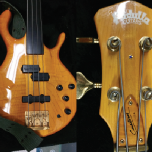 Electric-Bass by Pedulla Guitars, MVP/Buzz This is an electric bass made by Pedulla Guitars. The body of the bass is probably made out of maple and the condition seems very good. The main point of the estimate is the sound quality and the condition of the electronics parts. This can´t be proofed with photos. An auction estimate would be $1,000 - 2,000 USD.