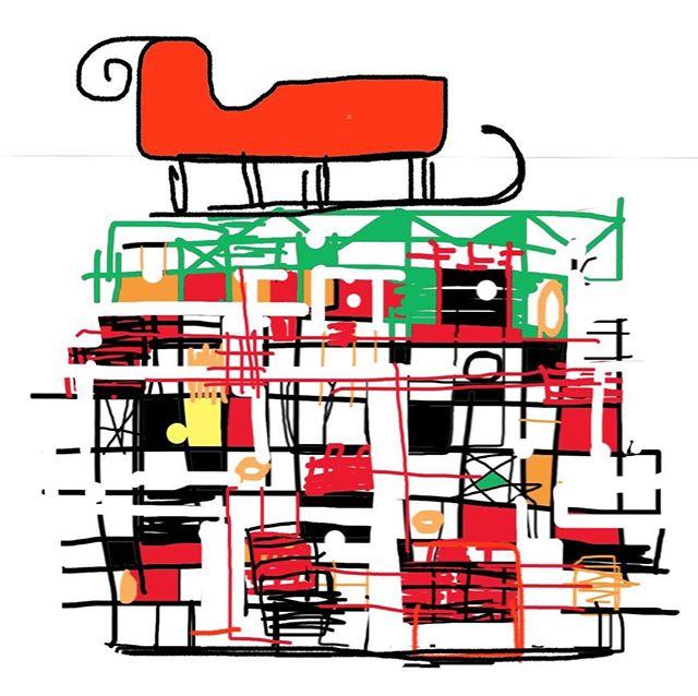 Santa's preferred parking on quirky abode..merry Xmas 🤶🏻🎅🏻#modernhomes #santassleigh #midcenturymodern #quirkyabodes