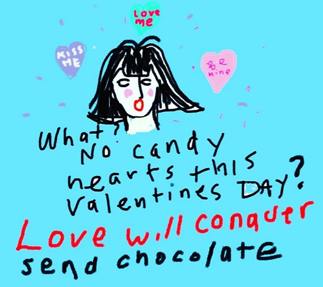 Happy Valentines Day sweet ones! Love is love is love 💕#candy #valentinesday2019 #humor #love #candyhearts #hearts #art #womenempowerment