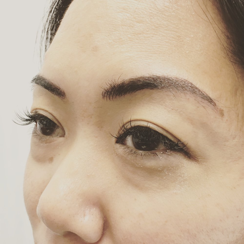 Eye's Eyebrow Microblading Results