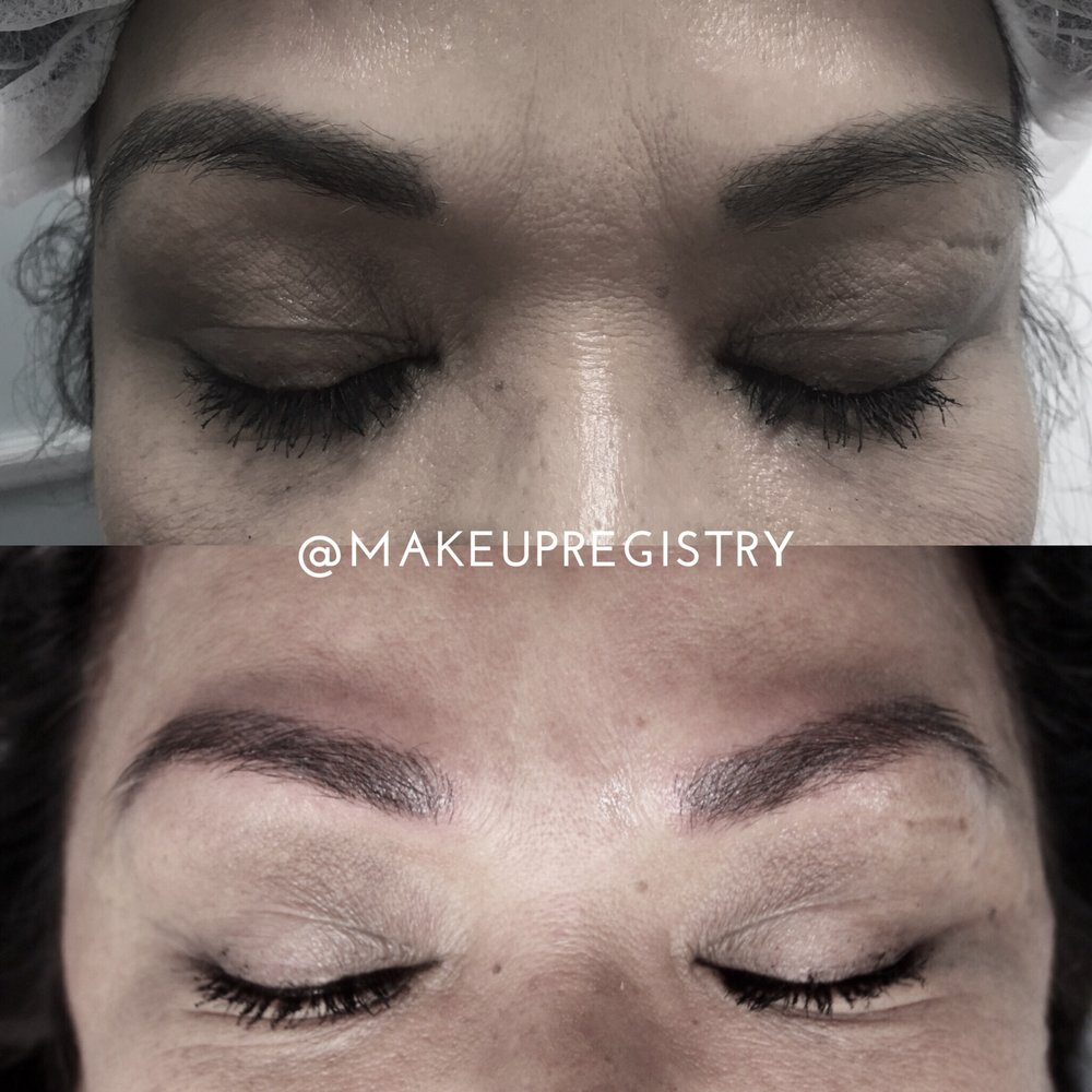 Laura's Eyebrow Microblading Results