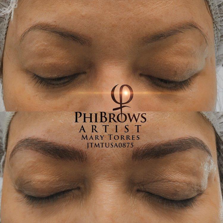 Old Eyebrow Tattoo Correction — MAKEUPREGISTRY, Microblading Artist