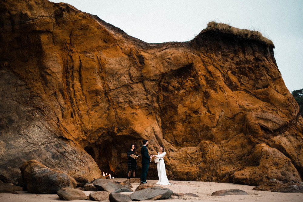 Elopement on Cape Kiwanda, Pacific City, Oregon