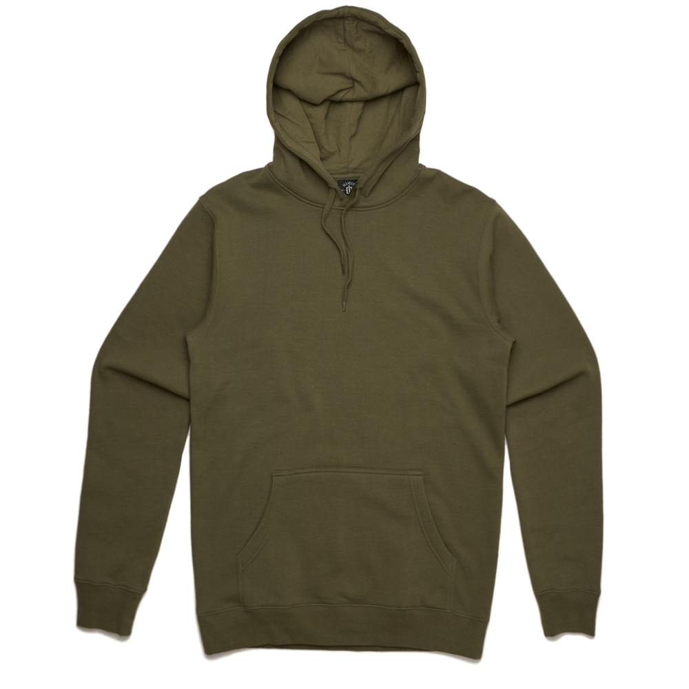 Fabric: – 80% cotton 20% polyester anti-pill fleece Weight: – Heavy weight, 350 GSM Sizes: – XXS, XS, S, M, L, XL, 2XL, 3XL Colours: Army, Black, Asphalt Marle, Grey Marle, Navy, Royal, White. - Neck and sleeve cuff ribbing - Preshrunk to minimise shrinkage - Pullover hood. - Illicit Custom Label - Regular Fit