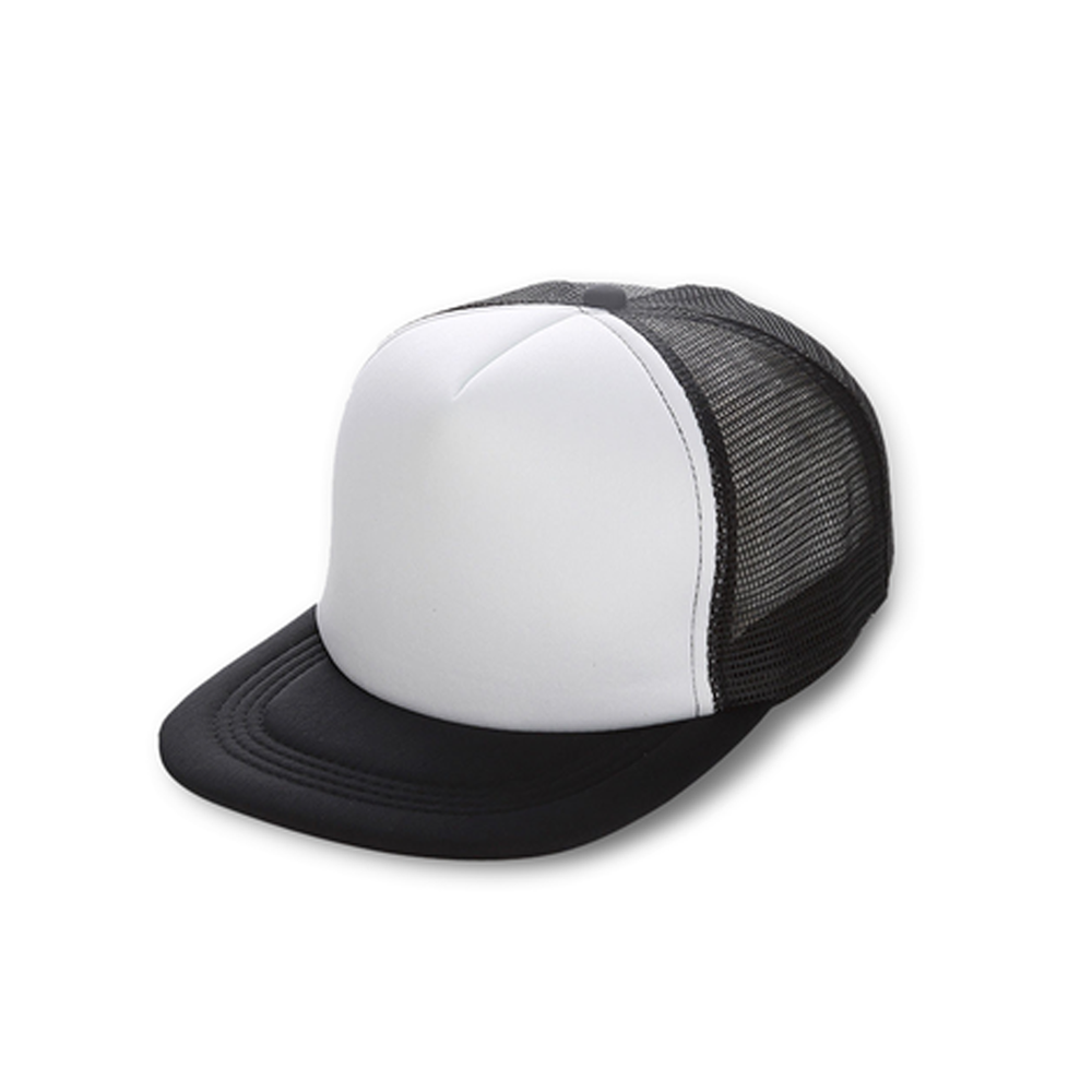 Fabric: – Foam Front Polyester Trucker Cap Sizes: – One Size Decoration Options: Transfer Print Only. Colours: Solid Black, Solid Navy, Solid Red, White/Black, White/Kelly Green, White/Navy, White/Red - Foam Front - Mesh Back - Snap Closure - Illicit Custom Label