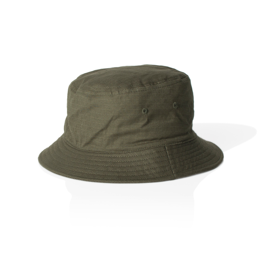 Fabric: – 100% Rip Stop Cotton Sizes: – One Size Decoration Options: Transfer Print or Embroidery. Colours: Army, Black, Khaki, Navy. - Reinforced brim with stitching detail - Embroidered eyelets - Illicit Custom Label