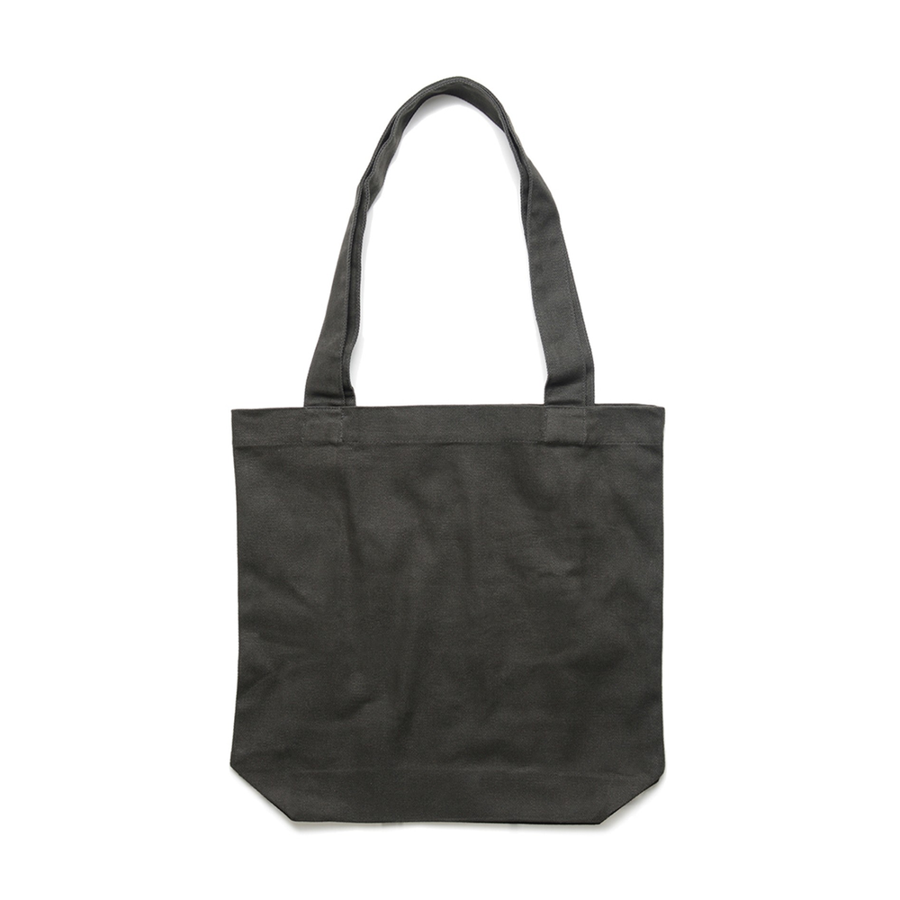 Fabric: – 100%  Cotton Canvas Weight: – 320 g/m2 Sizes: One Size Colours: Black, Charcoal, Natural. - Reinforced shoulder straps - One large main compartment - Size 42cm x 42cm