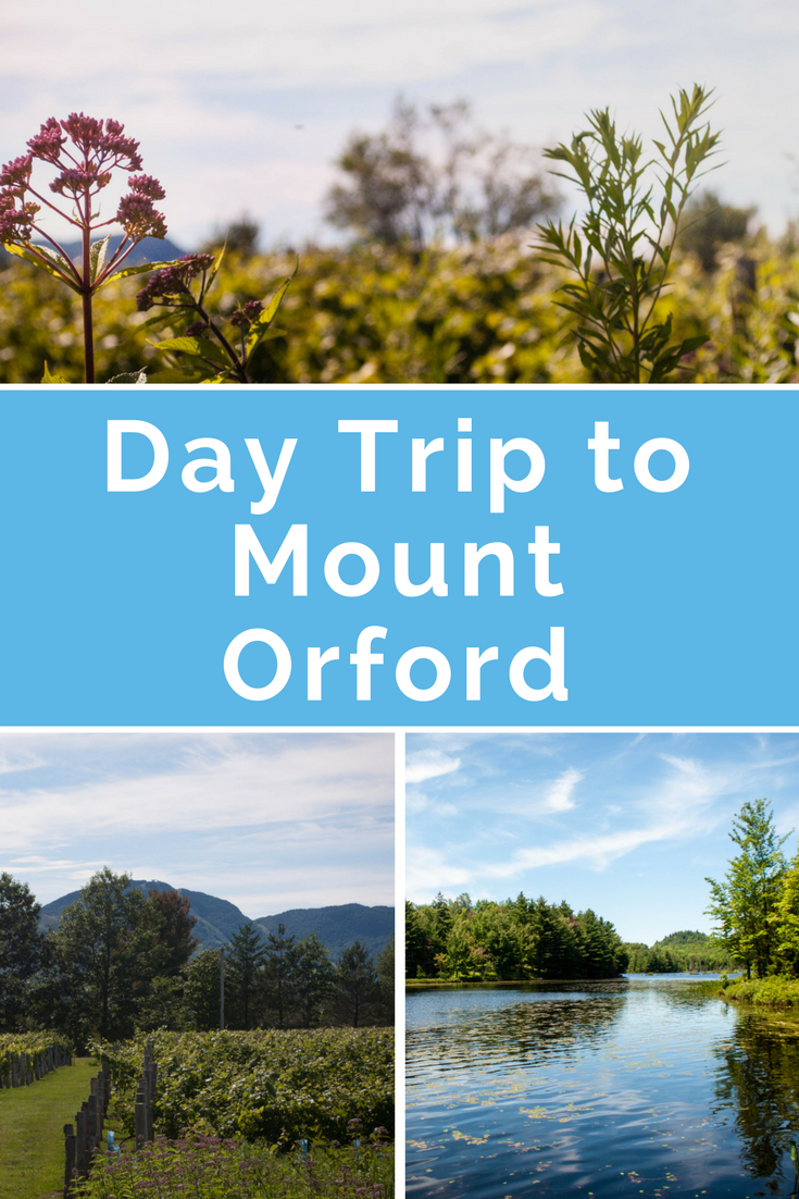 """Pinterest optimized image with """"Day trip to Mount Orford""""."""