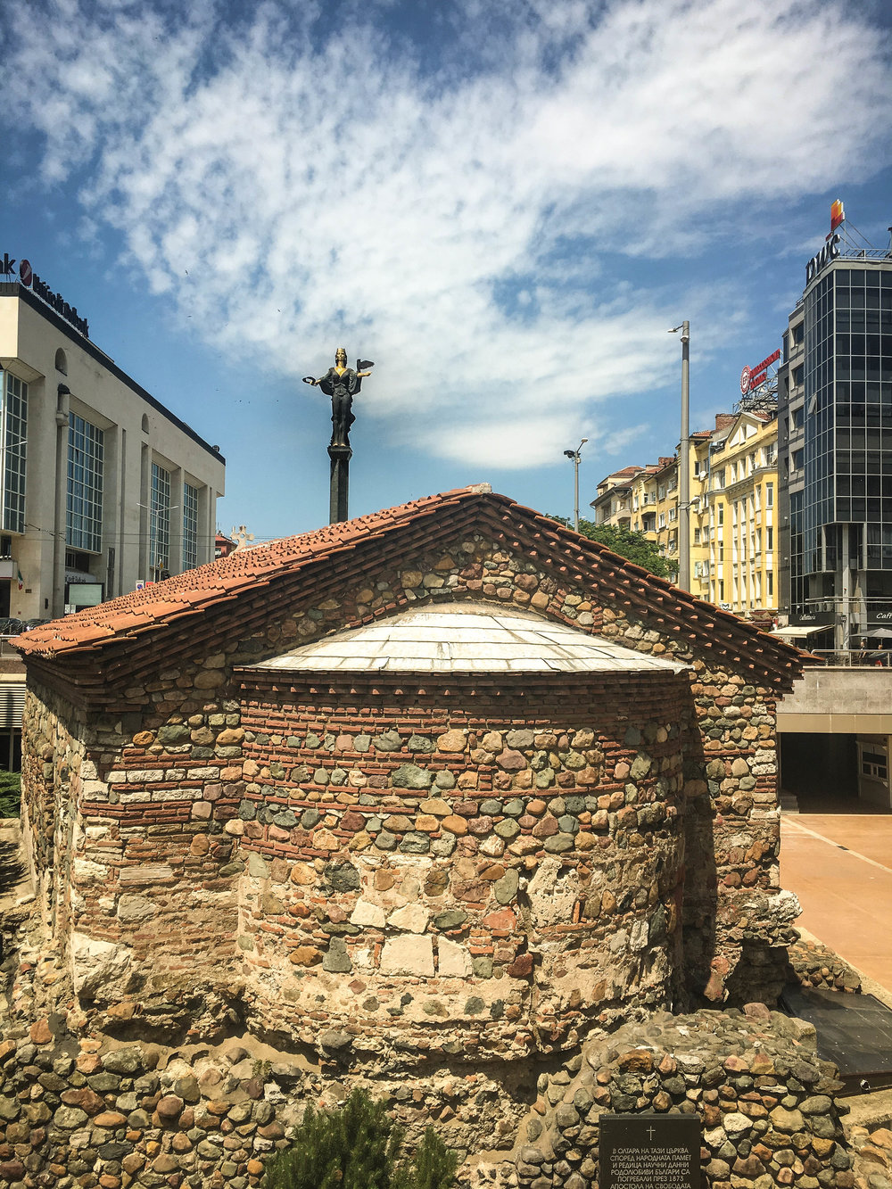 Ancient Roman ruins in Serdika, this is one of the must-see in a 2-day itinerary in Sofia (Bulgaria)