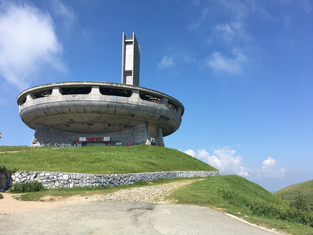 The UFO building, Buzludzha, it's a day trip from Plovdiv