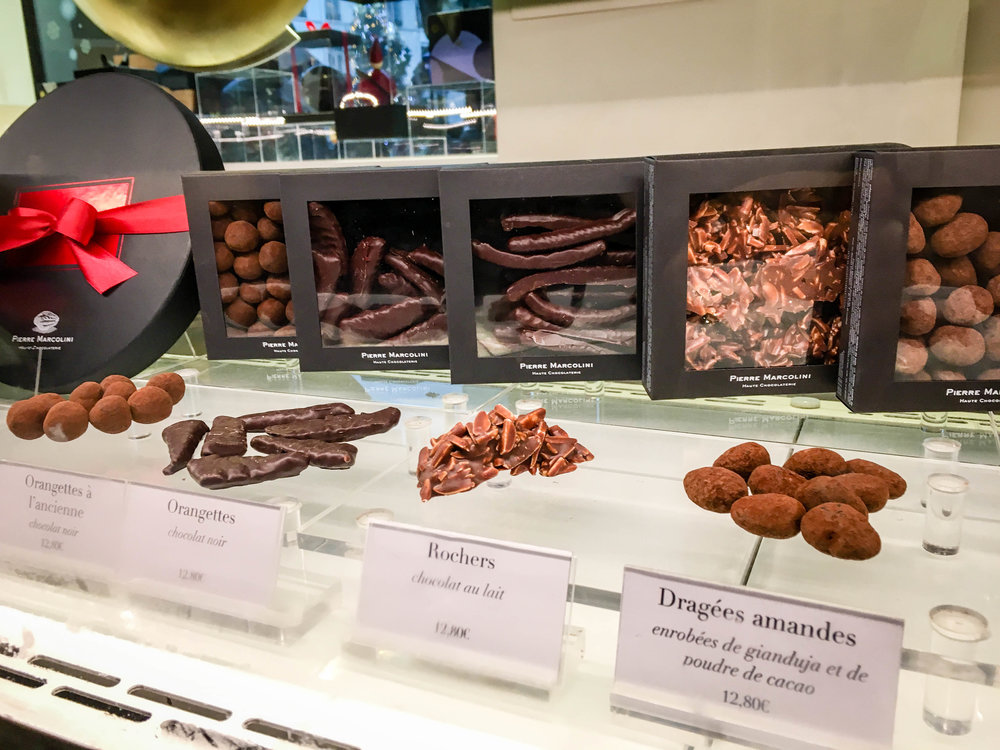Belgian chocolate praline tasting during our Brussels Beer and Chocolate Tour given by Brussels Journey