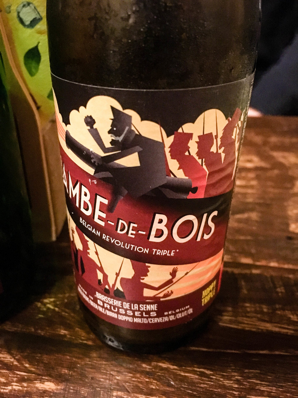 Jambe-de-bois, a Belgian beer tasted during our Brussels Beer and Chocolate Tour given by Brussels Journey