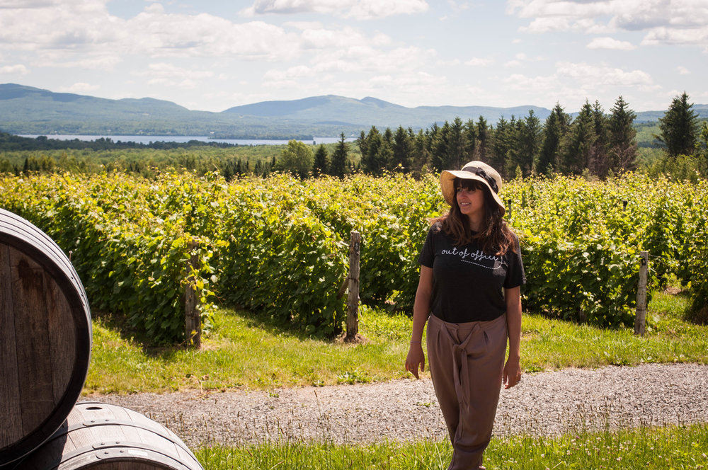 Girl at Leon Courville, a vineyard near Montreal