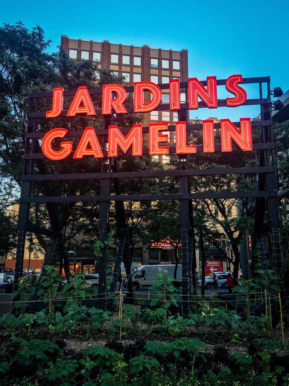 Jardins Gamelin garden, one of the 6 original terraces to enjoy the summer in Montreal