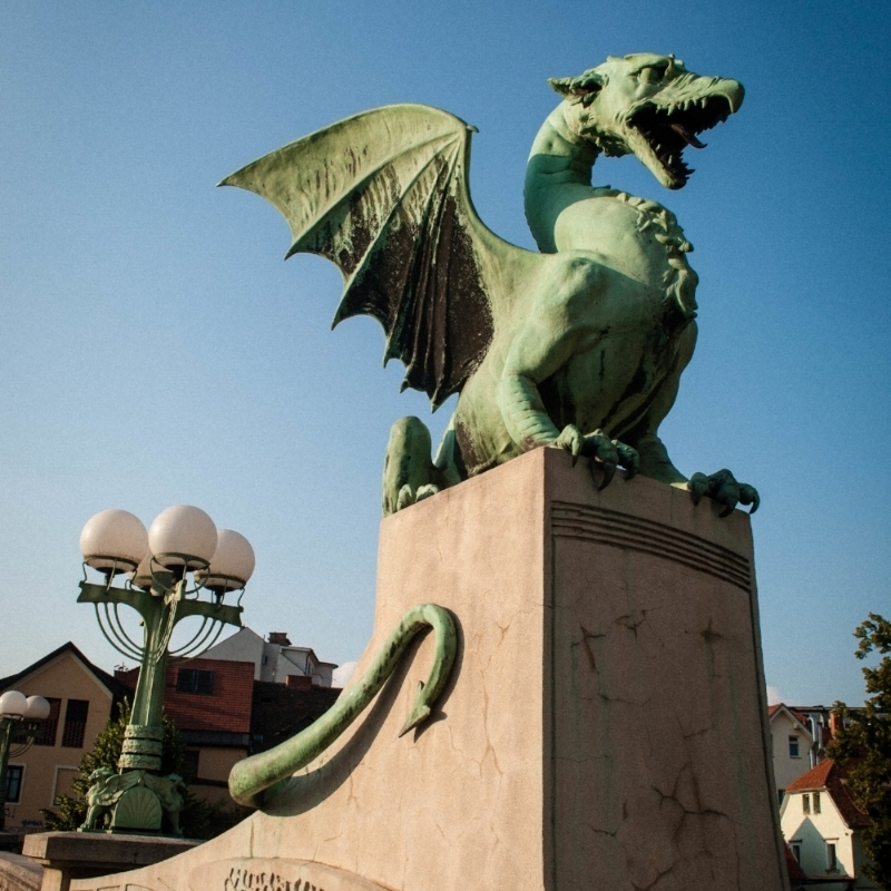 Dragon Bridge. art of your Ljubljana Itinerary